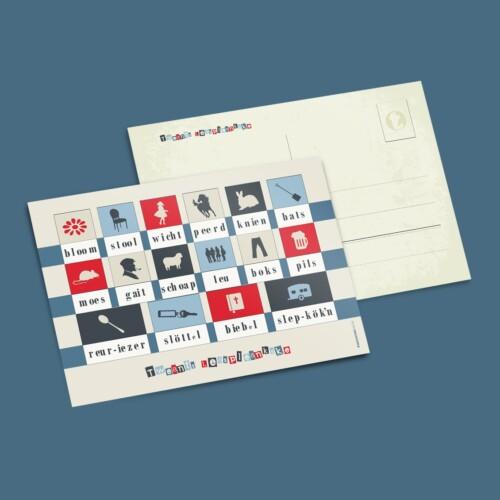 A5 kaart twents leesplankje